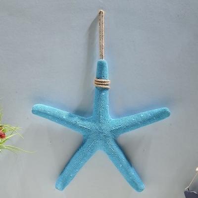 Морская звезда настенная голубая 38см