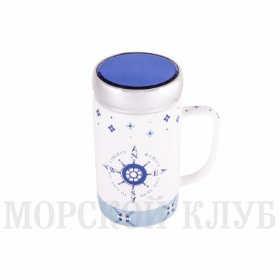 чашка с крышкой роза ветров