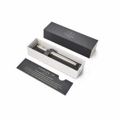 ручка перьевая parker im premium warm silver (grey) gt