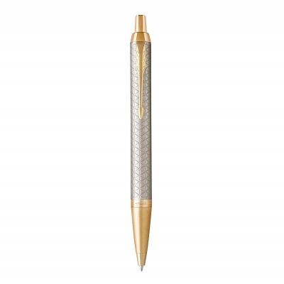 ручка шариковая parker im premium warm silver gt