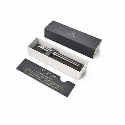 ручка перьевая parker im metal core dark espresso ct