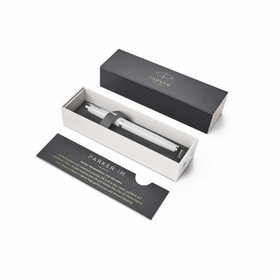 ручка перьевая parker im metal white ct