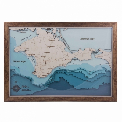Панно Карта глубинная 44*30