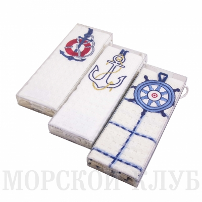 полотенце якорь вафельное 47*67см