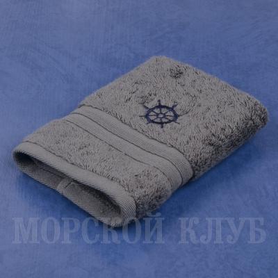 Полотенце Штурвал махровое темно-серое 30*30см