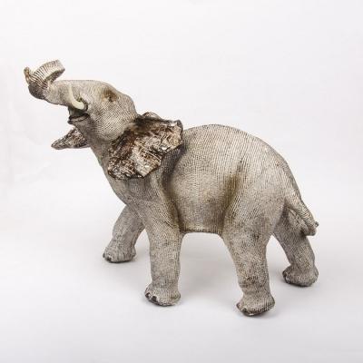 Статуэтка слона серого 35*32см