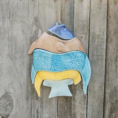 Рыба цветная подвесная