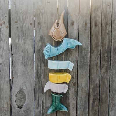 Рыба керамическая разноцветная