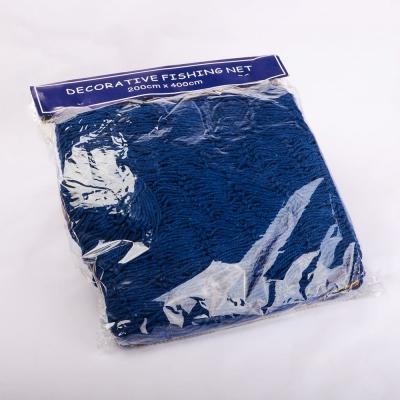 Сеть декоративная рыбацкая синяя 2*4м