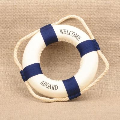 Спасательный круг декоративный синий 14см