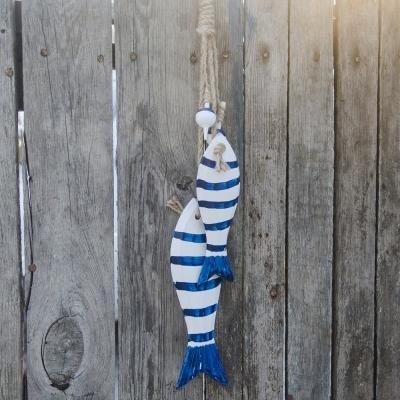 Рыбы декоративные подвесные 2шт бело-красные 36см