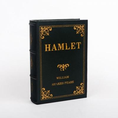 Шкатулка книга Гамлет в зеленом переплете 21см