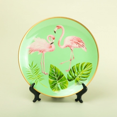 Тарелка Фламинго керамика 27см