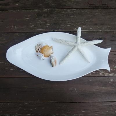 Тарелка Рыба белая керамика 38*18см