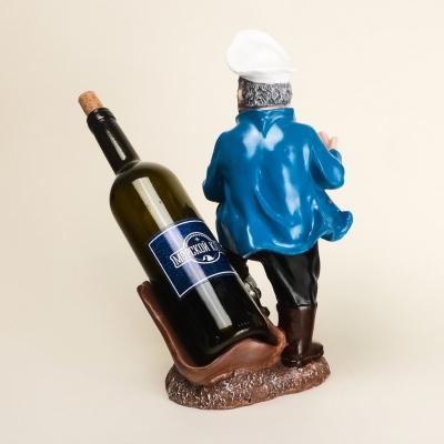 Подставка для бутылки Моряк 33см в белой тельняшке
