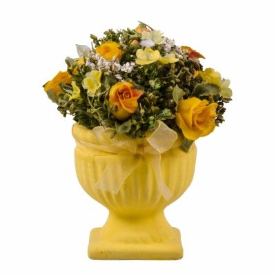 цветочная композиция желтая