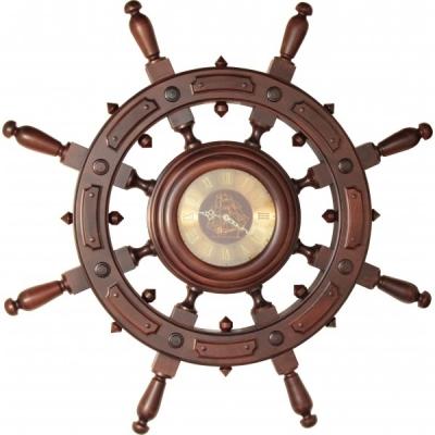 часы штурвал адмирал 8ручек 110см
