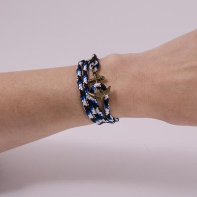 браслет якорь сине-голубой