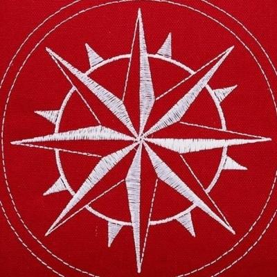Подушка Роза ветров 37*37см красная