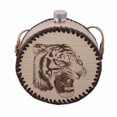 фляга круглая тигр 0,5л