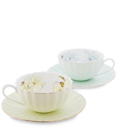чайный набор густо лючия с цветами на 2 персоны (pavone)