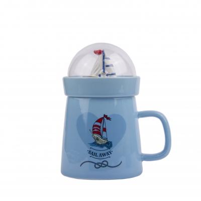 чашка с декоративной крышкой