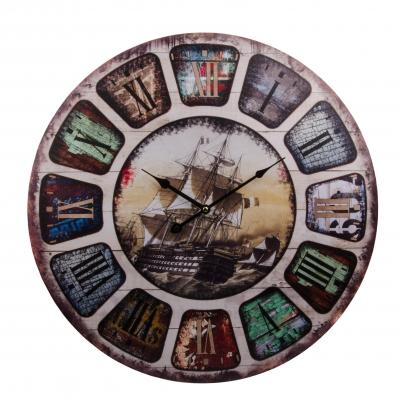 часы настенные корабль 60см