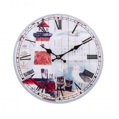 часы настенные маяк красный 34см