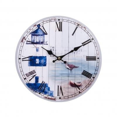 часы настенные маяк синий 34см