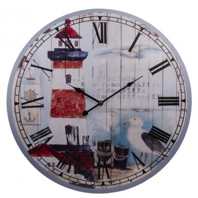 часы настенные маяк красный 60см