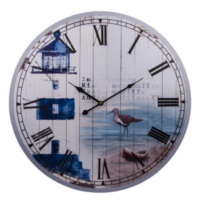 часы настенные маяк синий 60см