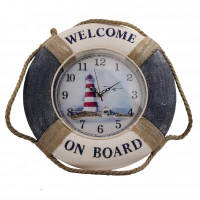 часы-спасательный круг 40см синие