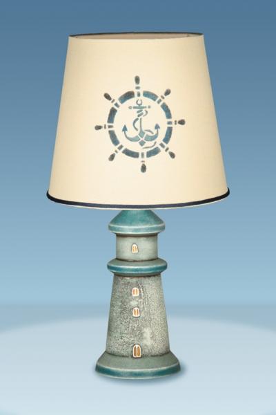 лампа штурвал синий
