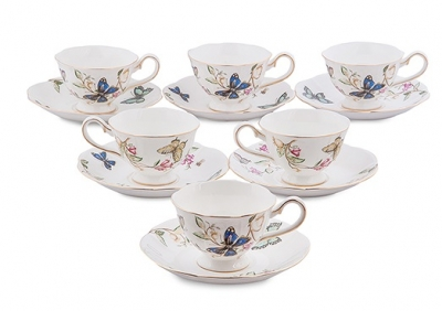 чайный набор райский уголок на 6 персон (pavone)