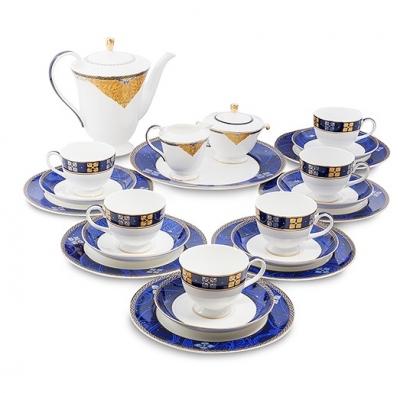 чайный сервиз золотой палермо на 6 персон (gold palermo pavone)