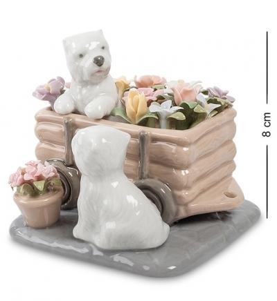 фигурка щенята цветы для хозяйки (pavone)