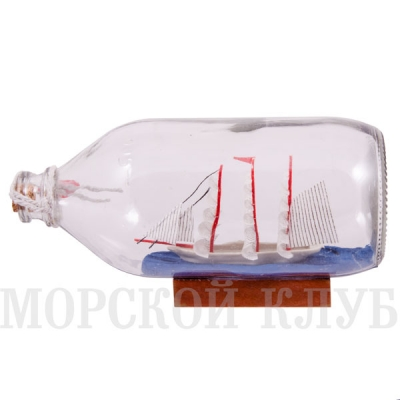 корабль в бутылке 18,5см