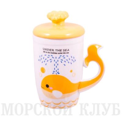 чашка кит (желтая)