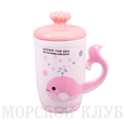 чашка кит (розовая)