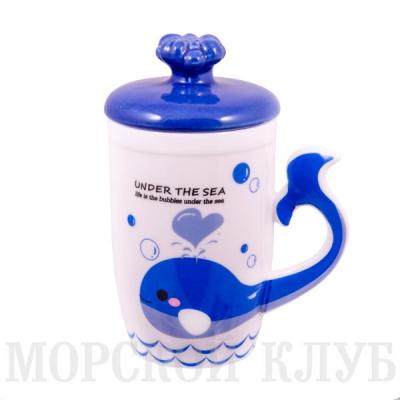 чашка кит (синяя)