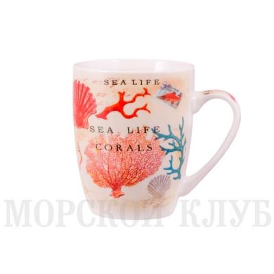 чашка коралл голубой
