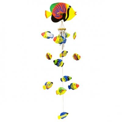 аквариум воздушный рыбки 75см желто-красный