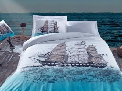постельный комплект 1,5сп ship mavi