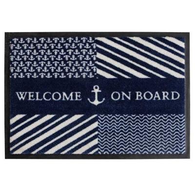 коврик на нескользящей основе navy
