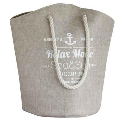 пляжная сумка бежевая 45см