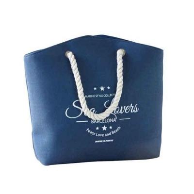 пляжная сумка синяя 35см