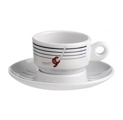 кофейные чашки с блюдцами cannes, набор 6 шт.