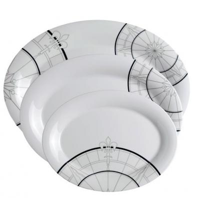 сервировочные овальные тарелки polaris, 3 шт