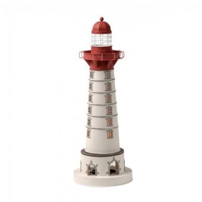 маяк-светильник белый/красный 50см