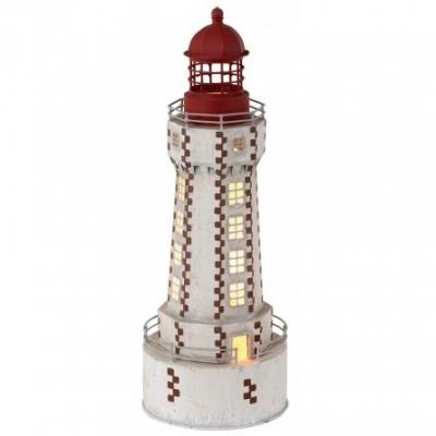 маяк-светильник белый/коричневый 42см